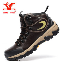 XIANG GUAN Free Shipping Hiking Shoes Outdoor Sports Boots Trekking Shoes Waterproof Mountain Climbing Shoes For Men 35668