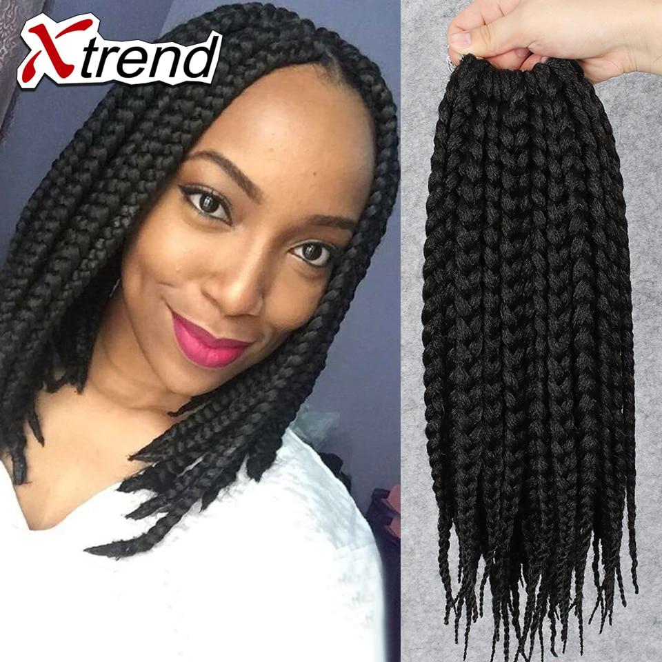 Xtrend Hair Box Braids Hair 12inch 12strands/pack 70g Crochet Braid Hair Extension Fashion Box ...