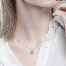 Fashion Pendant Necklace for Women Simple Sexy Clavicle Chain Temperament Snowflake Summer Gift