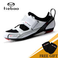 TIEBAO Men Women Road Bike Cycling Shoes Triathlon Zapatillas Ciclismo Fiberglass-Nylon Outsole Bike Shoes LOOK-KEO Cleat