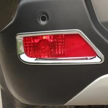 09 15 Car Accessories ABS Plastic Rear Fog Light Lamp Cover Trim 2pcs for Peugeot 3008 2009 2010 2011 2012 2013 2014 2015