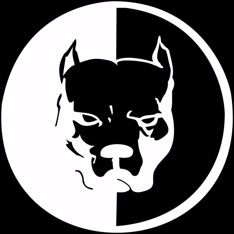 Black Pit bull Decal