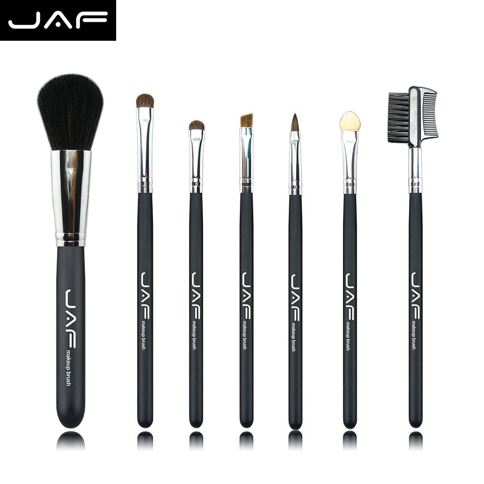 Retail JAF 7 Pcs Studio Makeup Brushes Goat Pony Horse Natural Hair Conveniently Portable Travelling Make Up Brush Set 717PY 60 hanks stallion violin horse hair 7 grams each hank 32 inches in length
