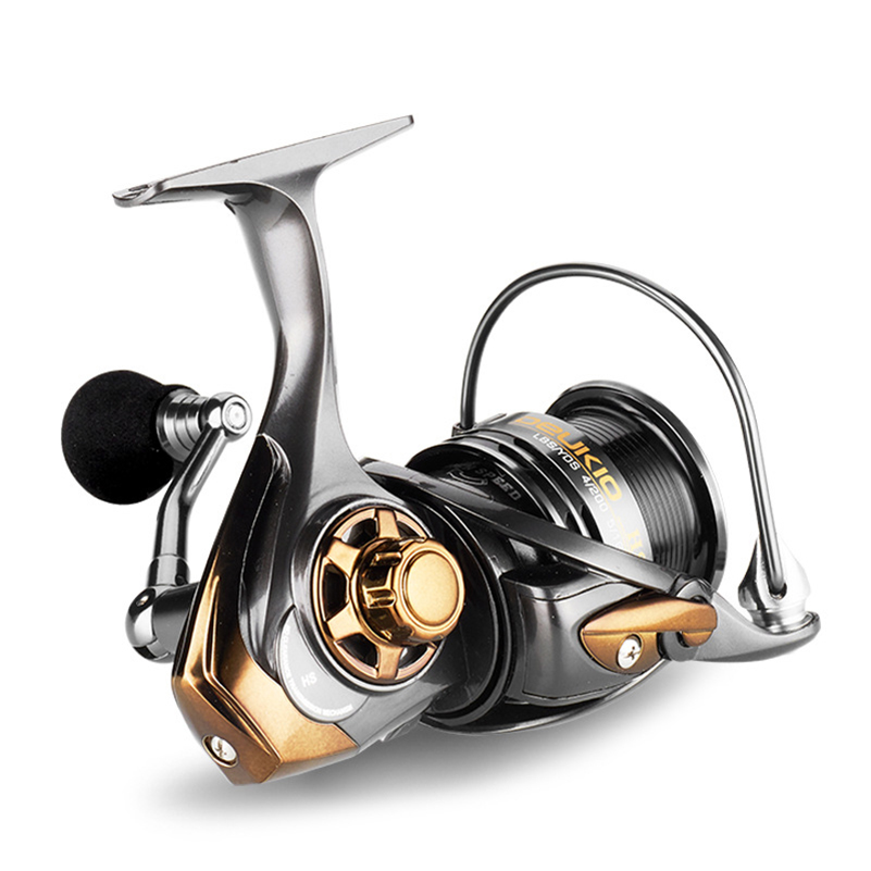 Image 5 - YUYU quality Metal Fishing reel spinning metal shallow spool 2000 3000 5000 6+1BB 7.1:1 spinning reel for carp fishing-in Fishing Reels from Sports & Entertainment