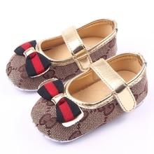 Bowknot Fancy Baby Girl Shoes Kids Frewalker Shoes Children Distinctive Shoes