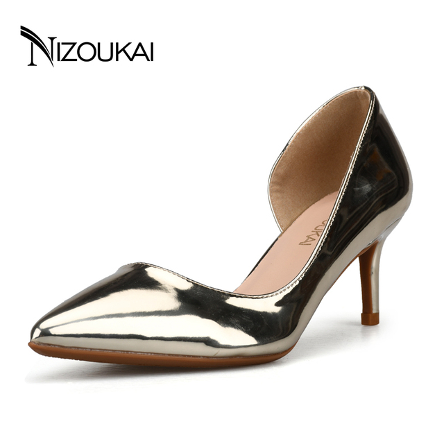 3d1f4ac0cc3 US $36.4 30% OFF|Fashion New High Heels Pumps Black Women Shoes Pumps Girls  Leather 6 cm Thick Heel Black Shoes for Office Lady d02 t6-in Women's ...