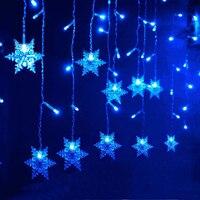 MUQGEW 2017 Newest High Quality Holiday Decoration Fairy Light 3 5M Snowflake LED String Curtain Lights