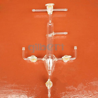 60ml Glass Steel Carbon and Sulfur Absorption Apparatus Laboratory Experiment цена