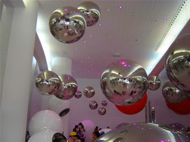 vruće 0,8 m modni božićni ukras na napuhavanje ogledalo loptu za - Zabava na otvorenom i sportovi - Foto 6