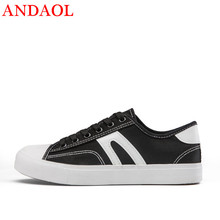 ANDAOL Mens Casual Shoes Top Quality Breathable Light Anti-Odor flat Sneakers New Luxury Lace-Up Non-Slip Campus Canvas