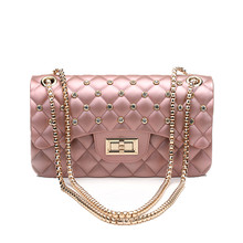 2019 New Women Summer Candy Colored Luxury Bags PVC Silicone Jelly Shoulder Messenger Chains Girl Crossbody sac a main