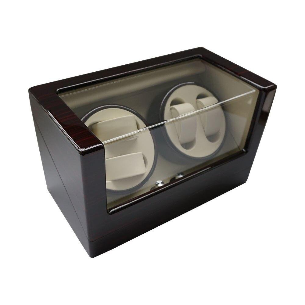 Caixa de Relógio Enrolador de Luxo Enrolador de Exibição para a Marca de Relógios Grade de Madeira da Laca Relógios de Caixa de Armazenamento de 4 Melhor Presente Relógio Girar 2020 &