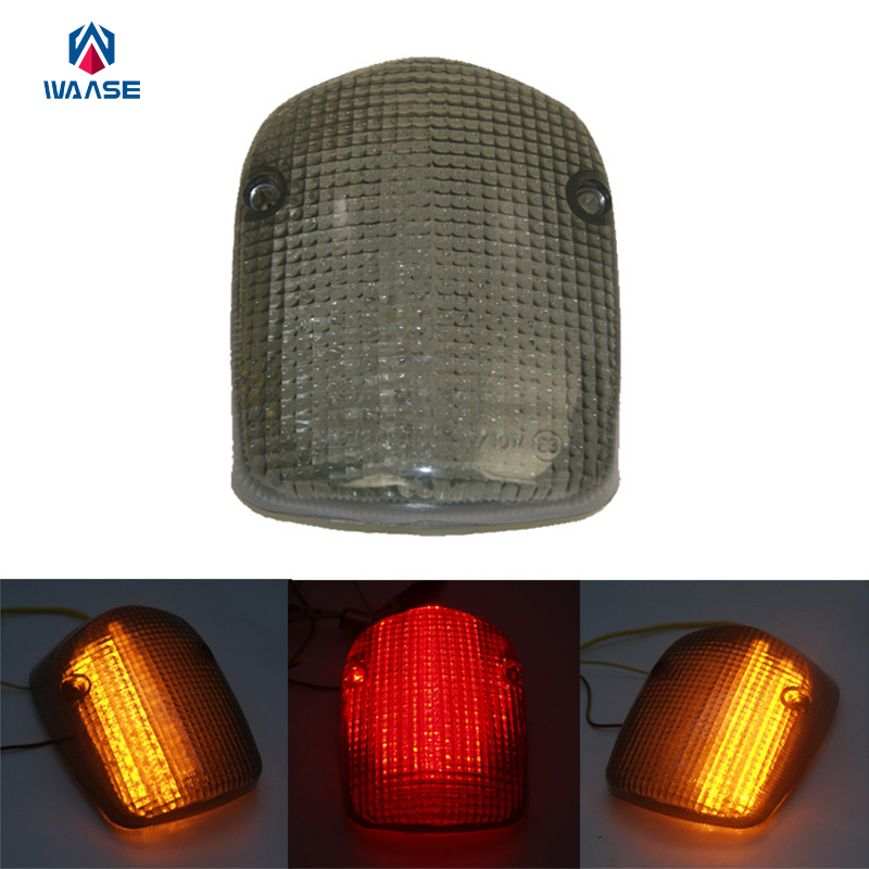 LED Turn Signal Tail Light Fit HONDA SHADOW ACE//DELUXE 750 SABRE 1100 AERO Smoke