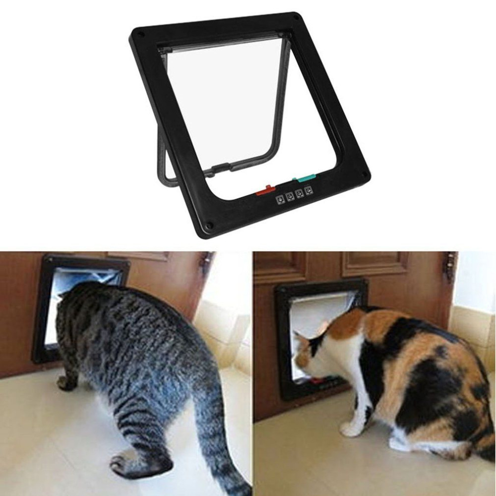 intelligent control pet cat puppy dog gates door with switch control changeable opening direction pet tools - Doggie Gates