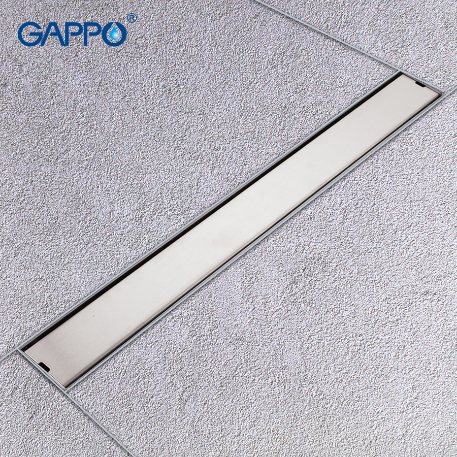 GAPPO Drains stainless steel recgangle anti odor waste drain bathroom bathroom water drain shower waste drain strainer in Drains from Home Improvement