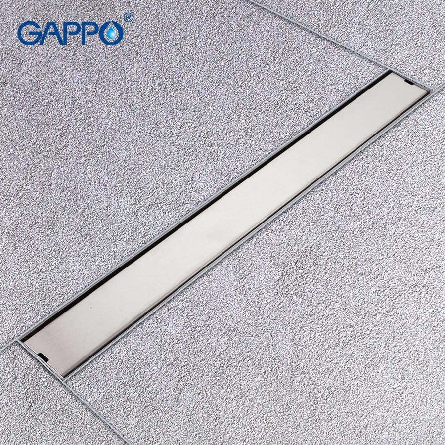 GAPPO Drains Stainless Steel Recgangle Anti-odor Waste Drain Bathroom Bathroom Water Drain Shower Waste Drain Strainer