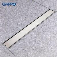 GAPPO Drains stainless steel recgangle anti odor waste drain bathroom bathroom water drain shower waste drain strainer