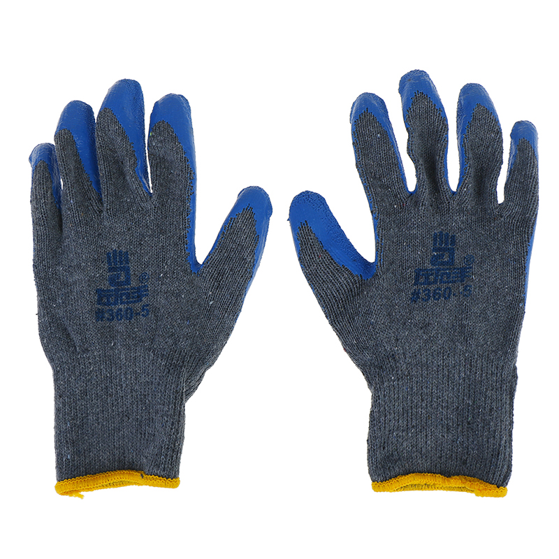 1Pairs Anti Skid Labour Safety Coating Work Gloves Builders Grip Palm Protect
