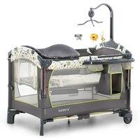 Valdera Multi функциональный складной кроватки Европейский складная кровать для игр Bb кровать новорождённого совместное с родителем сетки от ко