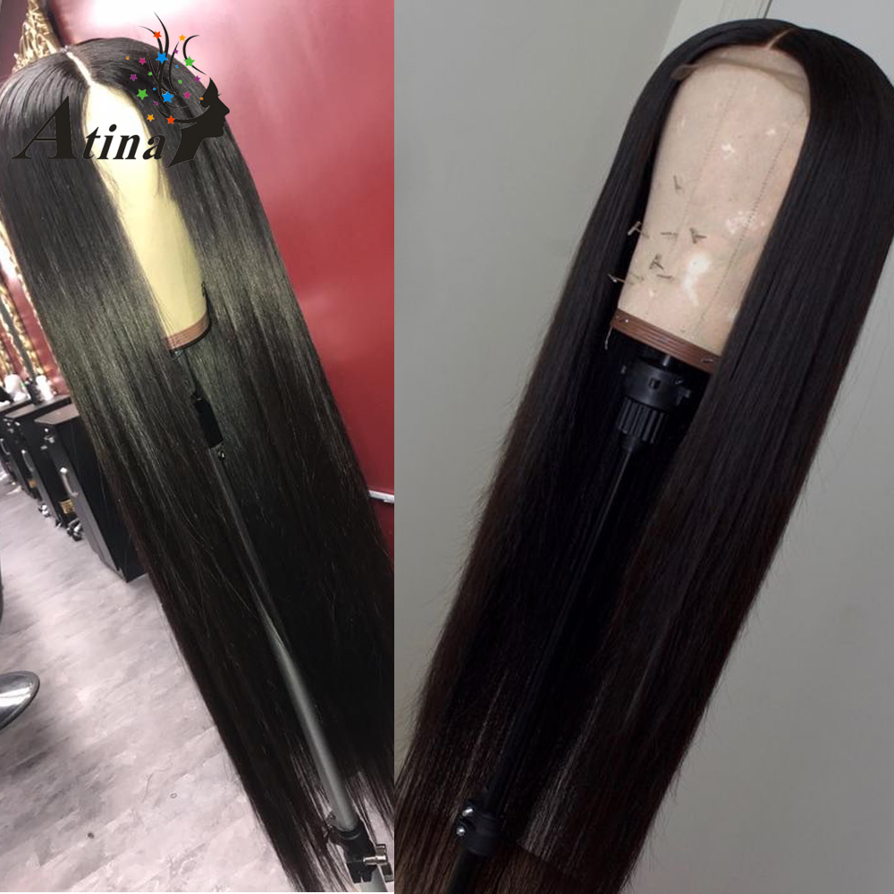 Straight Full Lace Wig 250 Density Preplucked Remy Brazilian Hair Wigs Glueless Virgin Hair Wigs With