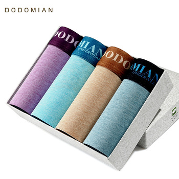 4Pcs Underwear Organic Natural Cotton Boxers