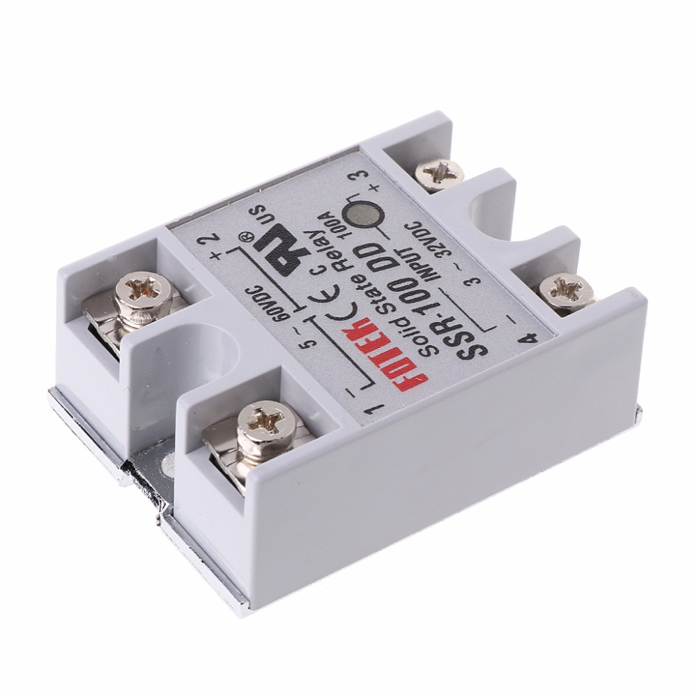 100A SSR-100DD 3-32V DC//5-60V DC LED Solid State Module Solid-state Relays Kit