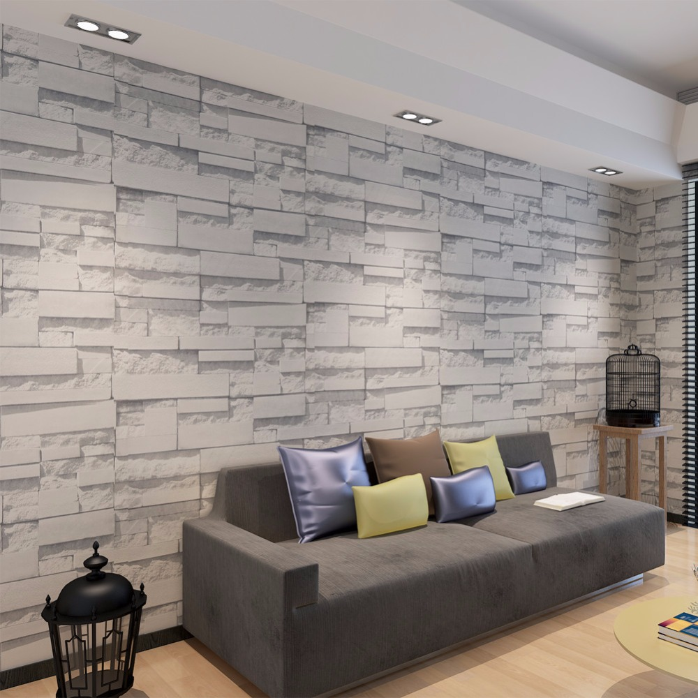 Modern 3d brick wallpaper for walls 3 d tv sofa background for Waterproof wallpaper for home