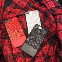 新しいファッションカラフルなバックカバー用iPhone7 7プラスゴールド箔フルカバレッジ柔らかいシリコン携帯電話ケース用iPhone8 8プラスx