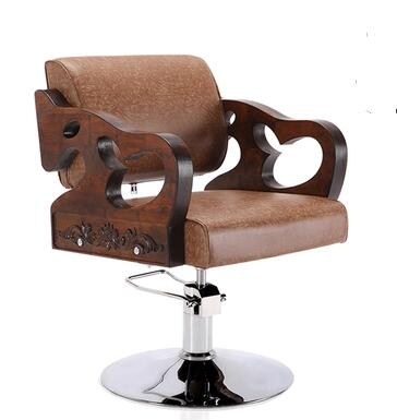 solid wood retro hairdressing chair barber chair barber s hair salon dedicated elevator swivel chair0053 in chaise lounge from furniture on