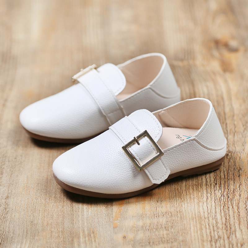 Kids Shoes British Style Childrens Single Shoes Spring Autumn Boys Shoes Girls Loafers Buckle Leather Shoes Tenis Infantil 2017