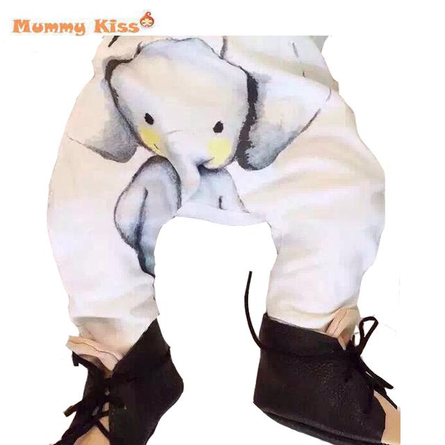 2016 calças moda meninos calças Harem calças para meninas elefante crianças calças criança criança roupas de bebê C50