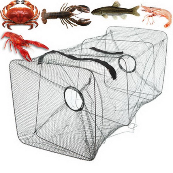 Fishing Net Mesh Trap Shrimp Traps Toy Foldable Crab Fish Crawdad Fishing Bait Trap Cast Dip Net Cage Toy