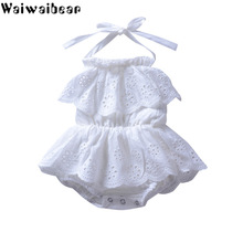 Waiwaibear Summer Newborn Baby Girls Rompers Sleeveless Solid Jumpsuit Sunsuit Outfits Clothes  ZT11