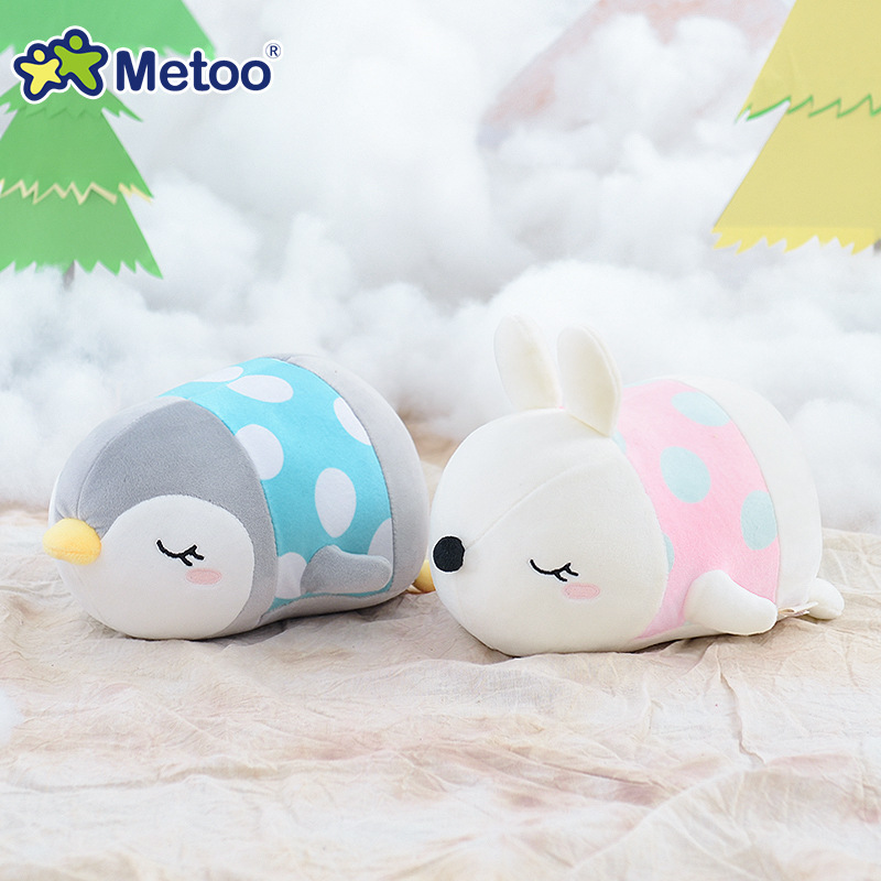 21cm Penguin Rabbit Kawaii Stuffed Plush Animals Cartoon Kids Toys for Girls Children Baby Birthday Christmas Gift Metoo Doll kawaii plush stuffed animal cartoon kids toys for girls children baby birthday christmas gift angela rabbit metoo doll