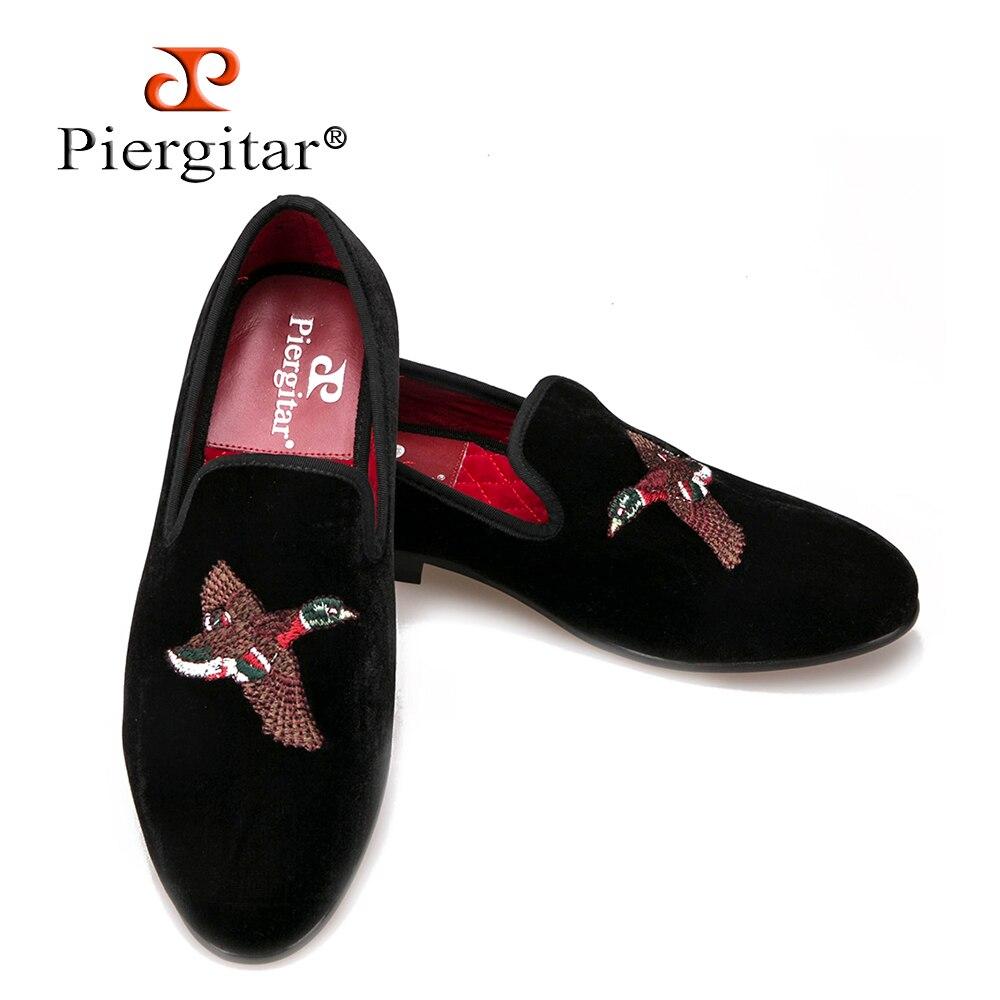 Fashionable Bird Embroidery Velvet Men Shoes Men Loafers Men Flats Size US 6-14 Free shipping fashionable bird