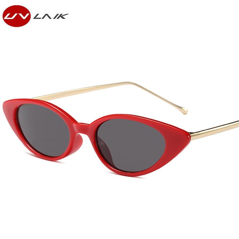 UVLAIK Persönlichkeit Kleine Rahmen Cat Eye Sonnenbrille ...