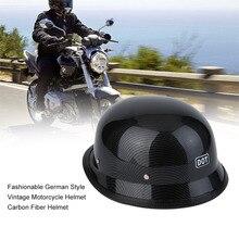 M/L/XL Fashionable German Style Vintage Motorcycle Helmet Carbon Fiber Durable Half Face German Helmet Motorcycle Helmet