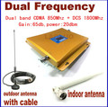 Pantalla LCD Full Set! nuevo CDMA 850 MHz + DCS 1800 MHz señal de doble banda Gsm Repetidor Móvil de la Señal Del Amplificador + Antena