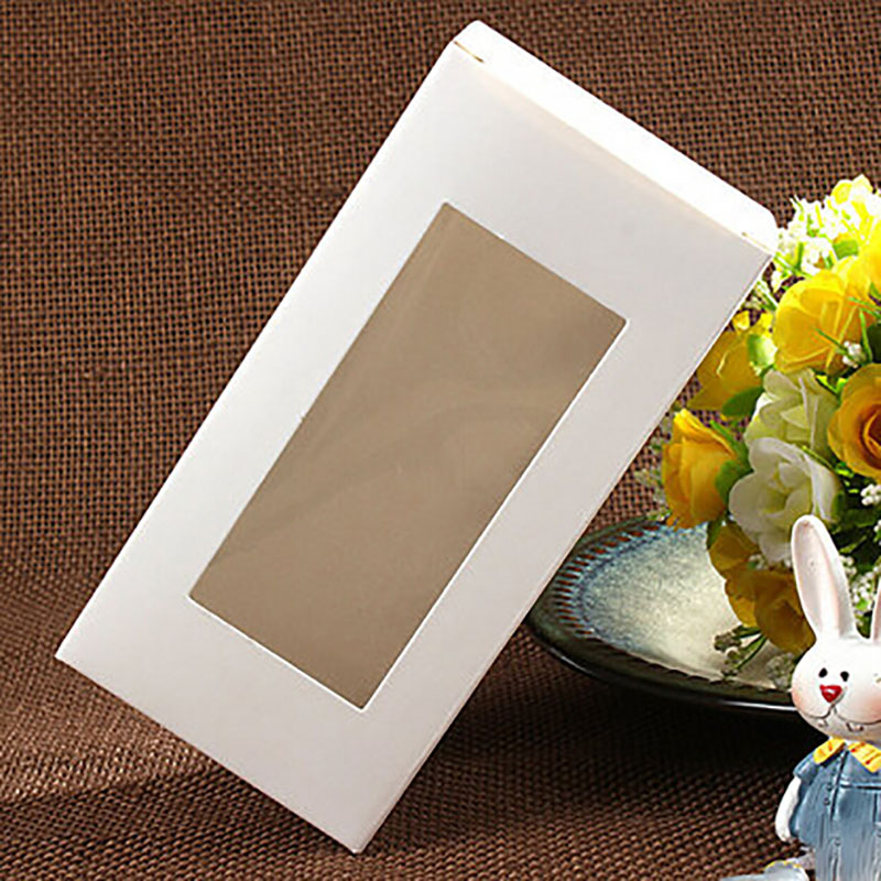 Wholesale 7 7 14cm White Window Box Packing Custom Gift