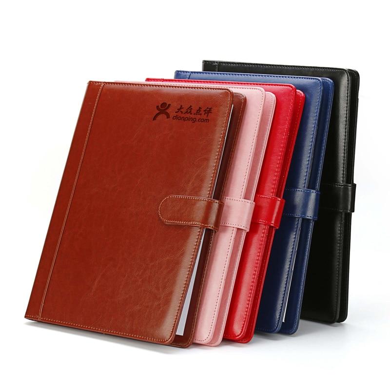 High quality PU leather portable file folder a4 portfolio conferentie map folios a4 PU leather briefcase office supplies 1300