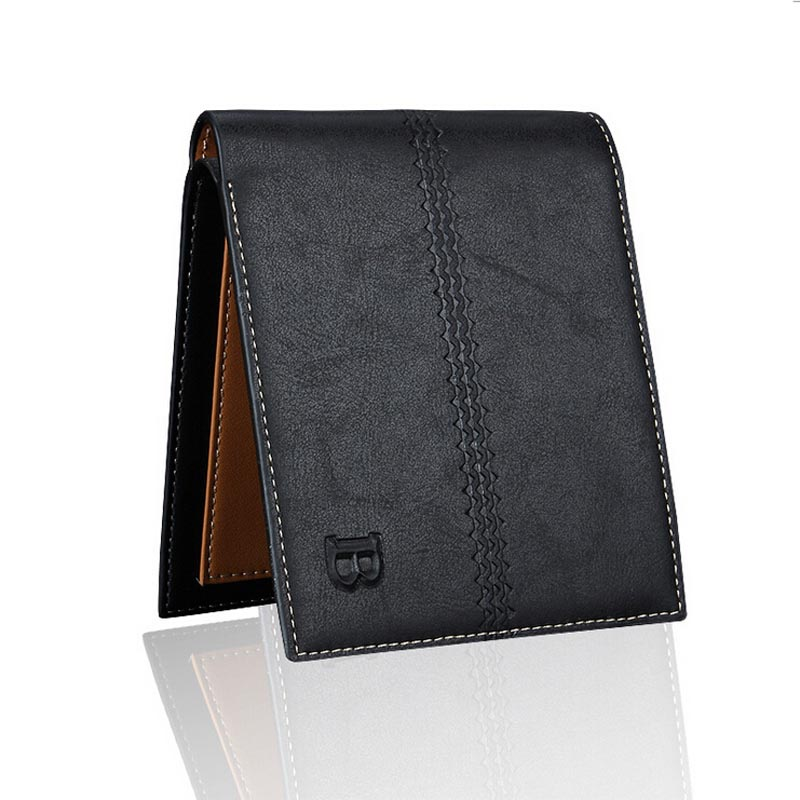 Bifold Men Wallet Soft Leather Handbag Coin Purses Small Brand Designer Thin Business Male Mini Clutch Cheap Carteira masculina
