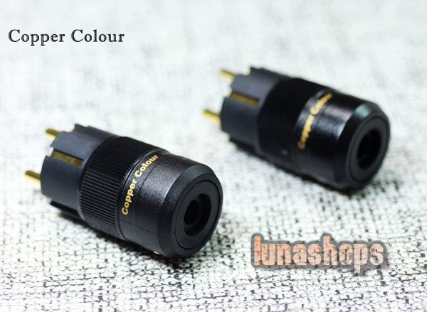 Copper Colour CC US EU Standard -126 Degree Freeze Power Plug Male+Female kits