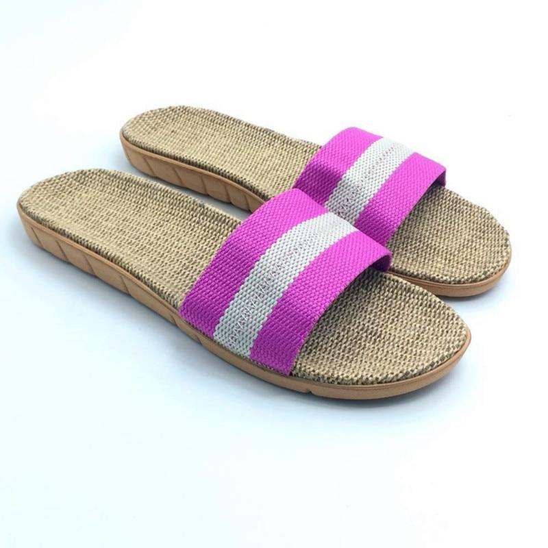 Zomerlinnen Slippers Ademend Comfortabel Thuis Slippers Slide - Damesschoenen - Foto 6