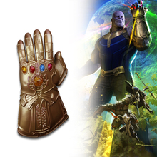 1:1 Thanos Infinity Gauntlet Avengers Infinity War Gloves With Led Light Cosplay Thanos Glove Halloween Party Props Deluxe yacn infinity gauntlet glove avengers infinity war cosplay for kids glove infinity led light send keychain