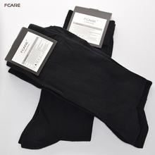 Fcare 8PCS=4 pairs 43 to 46 EU size black combed cotton men dress socks crew socks meias masculina sokken heren