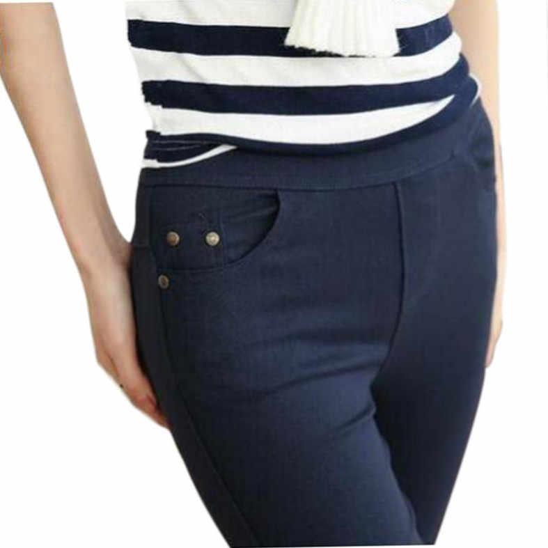 e6e95cd78b79c Free Shipping 2018 New Autumn Fashion Pencil Jeans Woman Candy Colored Mid  Waist Full Length Zipper