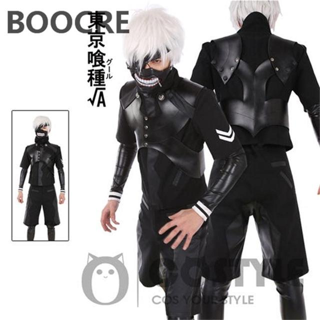 New Design Anime Tokyo Ghouls Cosplay Costume Ken Kaneki COS Anime Wear W Armour black  sc 1 st  AliExpress.com & New Design Anime Tokyo Ghouls Cosplay Costume Ken Kaneki COS Anime ...