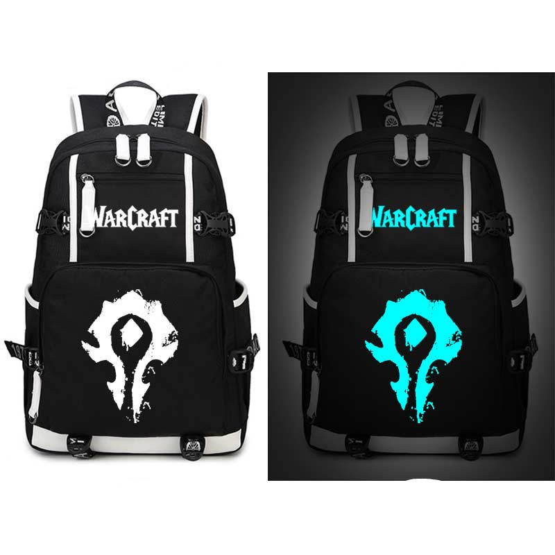 World Of Warcraft The Alliance Horde Evermore Luminous Backpack Bags Laptop School Travel Book Bags Teenagers Rucksack Gift