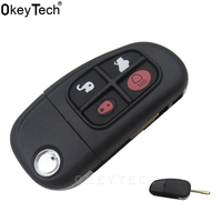 OkeyTech 4 Buttons Replacement Keyless Remote Flip Car Key Case Cover Shell Fob NHVWB1U241 Fit For