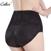 COLLEER Breathable Women Fake hip briefs Fashion sexy Traceless Anti emptied Padded exaggerated buttocks ass Female underwear